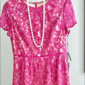 Adrianna Papell Lace Dress Size 14